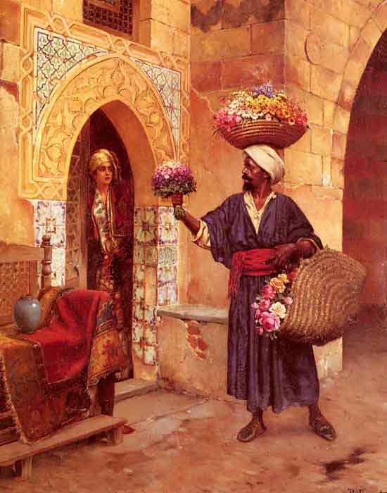 Oil painting for sale:Le Marchand De Fleurs [The Flower Merchant]