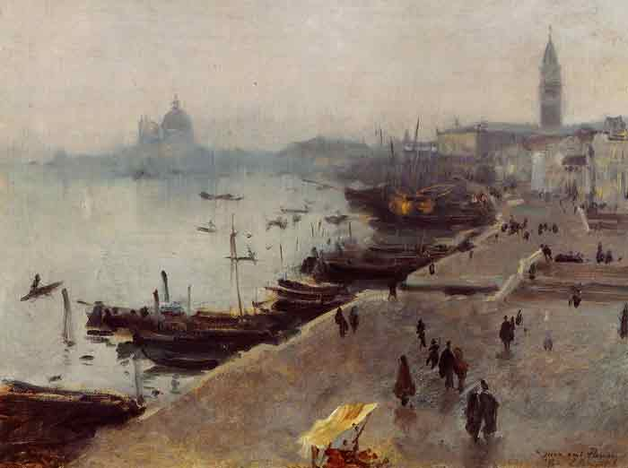 Oil painting for sale:Venice in Gray Weather , 1882