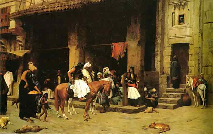 Oil painting for sale:A Street Scene in Cairo, 1870-1871