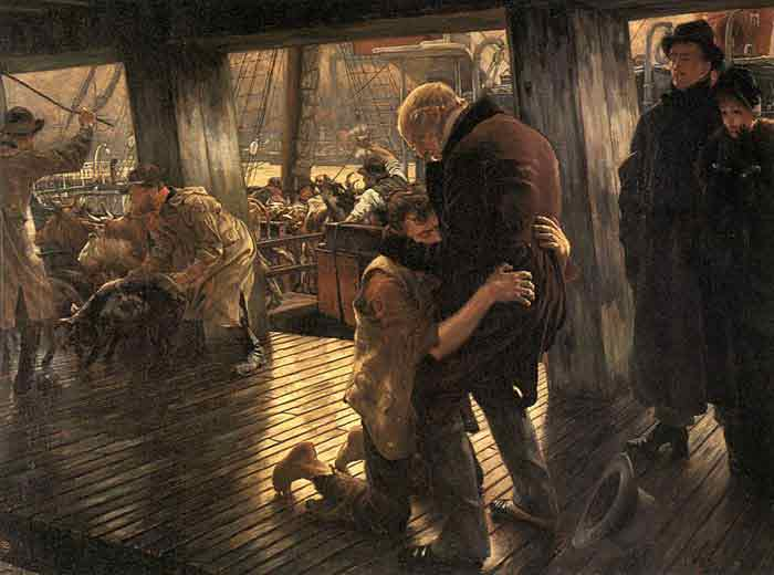 Oil painting for sale:The Prodigal Son in Modern Life: The Return, c.1882