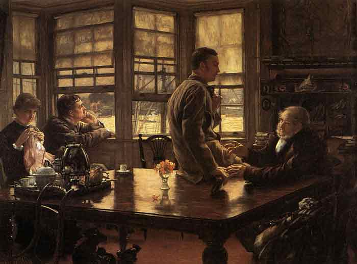 Oil painting for sale:The Prodigal Son in Modern Life: In Foreign Climes, c.1882