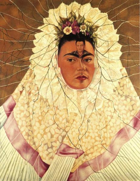 Oil painting:Self-Portrait as a Tehuana. 1943