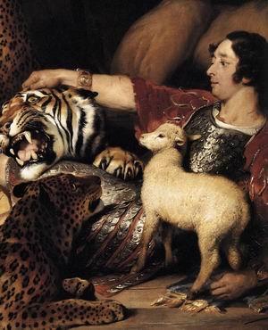 Isaac van Amburgh and his Animals (detail) 1839