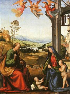 The Holy Family with the Infant St. John in a Landscape