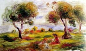 Landscape with Figures at Cagner, c.1916