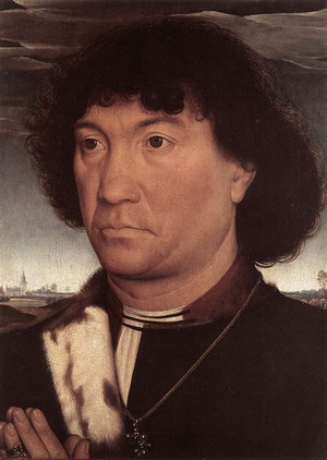 Portrait of a Man at Prayer before a Landscape c. 1480