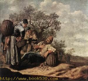 Landscape with Conversing Peasants