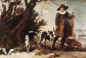 Winter Landscape with a Hunter 1624