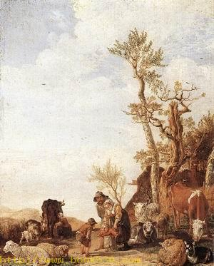 Peasant Family with Animals 1646