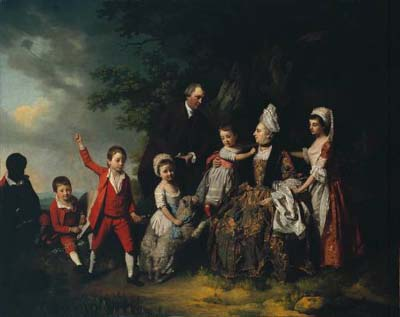 A Family Group in a Landscape