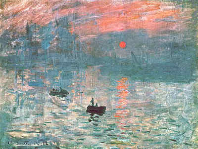 Impression at Sunrise (Blue)