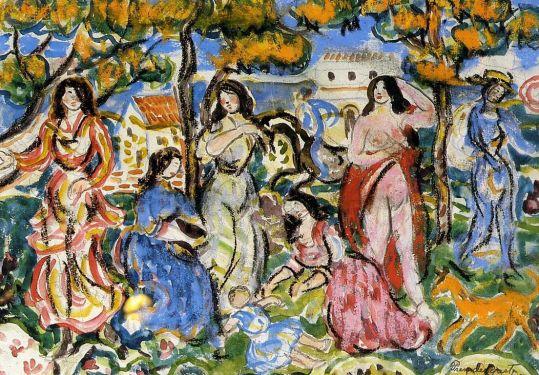 Maurice Prendergast - Figures in a Landscape