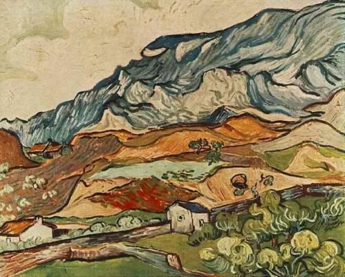 Vincent van Gogh - Les Alpilles, Mountainous Landscape near Saint-Remy