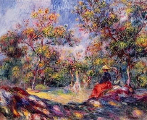 Pierre-Auguste Renoir - Woman in a Landscape