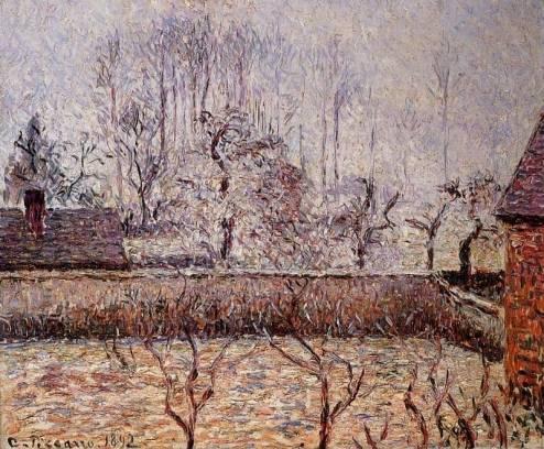 Camille Pissarro - Landscape, Frost and Fog, Eragny