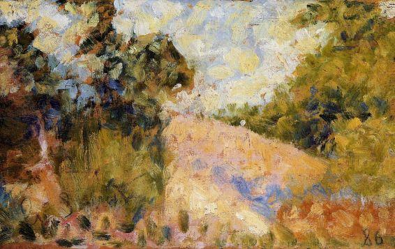 Georges Seurat - Pink Landscape