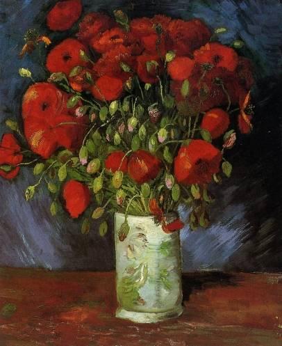Vincent van Gogh - Vase with Red Poppies