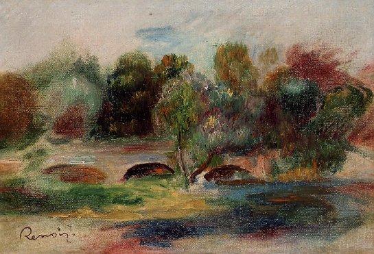 Pierre-Auguste Renoir - Landscape with Bridge 01