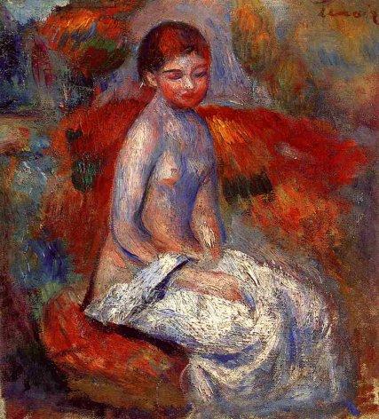 Pierre-Auguste Renoir - Nude Seated in a Landscape