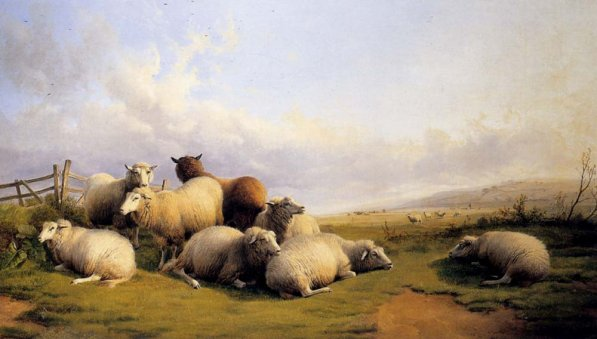 Thomas Sidney Cooper - Sheep In An Extensive Landscape