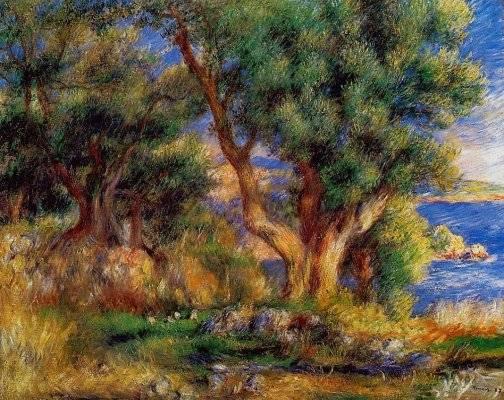 Pierre-Auguste Renoir - Landscape near Manton