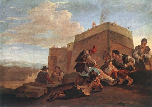 Landscape with Morra Players