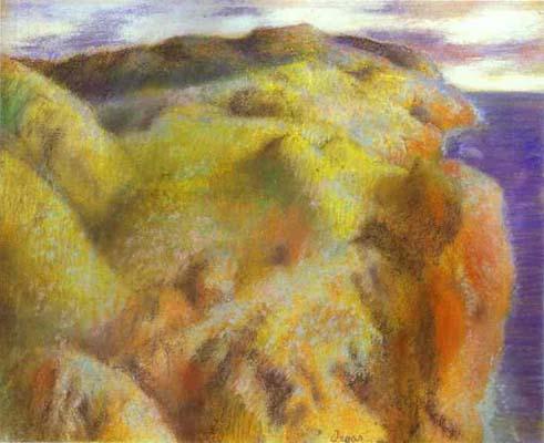 Edgar Degas Coastal Landscape Oil Painting