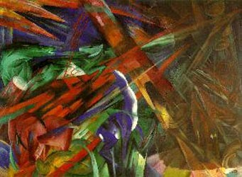 Franz Marc The fate of the animals Oil Painting