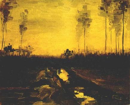 Landscape at Dusk,Nuenen: April, 1885
