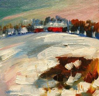 ARTOUTWEST DAILY PAINTING DECEMBER 4 SNOW LANDSCAPE