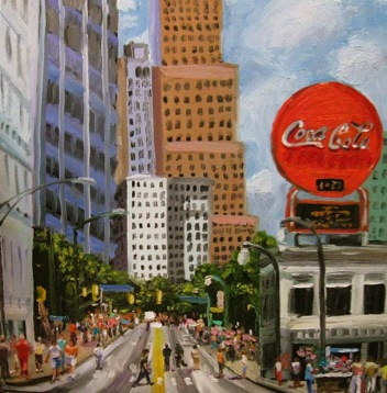 Peachtree Street and the Coke Sign