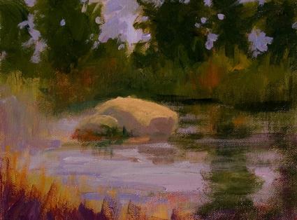 Plein Air Impressionism Marsh Study