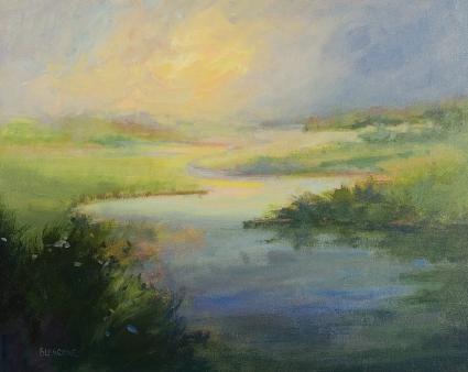 Contemporary Impressionist Landscape Marsh Dawn