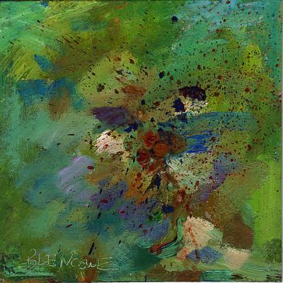 Abstract Expressionist Daily Painting Spring II