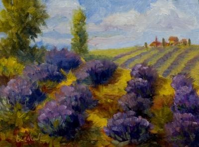 Lavendar Field~Daily Impressionist Painting