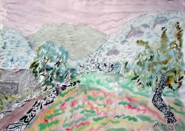 Rosey Spring Landscape