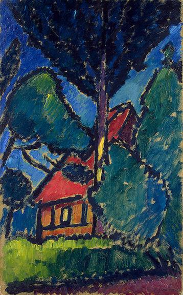 Landscape with a Red Roof