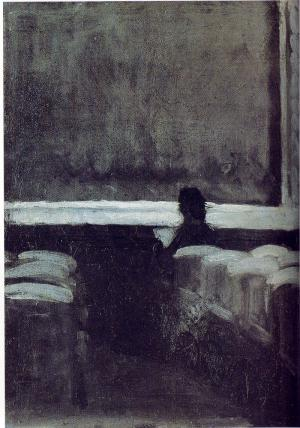 Solitary Figure in a Theatre