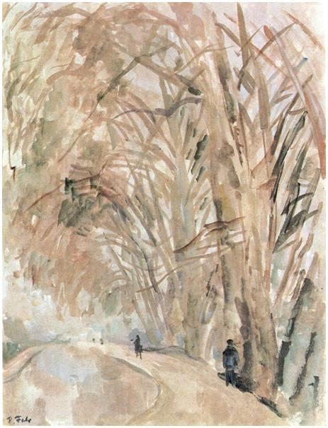 The Bois de Boulogne In Winter