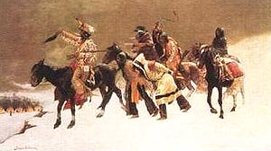 Frederic Remington Return of the Blackfoot War Party