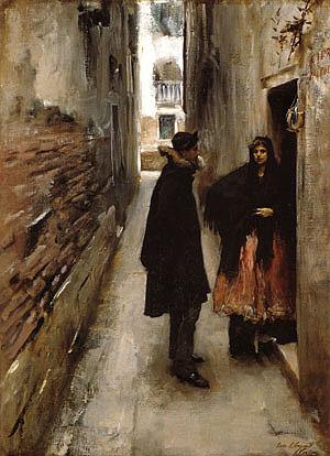 John Singer Sargent A Street in Venice 1880-82