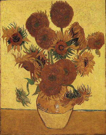 Vincent van Gogh Vase with Fifteen Sunflowers 1888