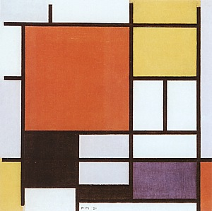 Piet Mondrian Composition with Red, Yellow, Blue and Black, 1921