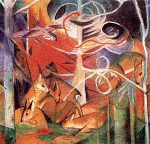 Franz Marc Deer in the Forest I