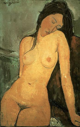 Amedeo Modigliani Modigliani -Seated Nude 1916