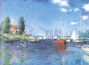 Claude Monet Red Boats. Argenteuil 1875
