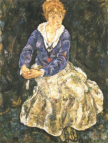 Egon Scheile Portrait of the Artists Wife, Seated 1918
