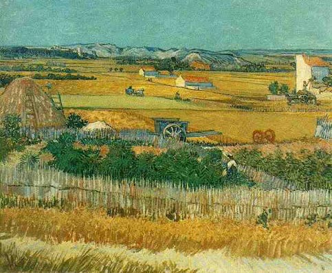Vincent van Gogh Harvest at La Crau