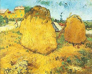 Vincent van Gogh Haystacks in Provence 1888
