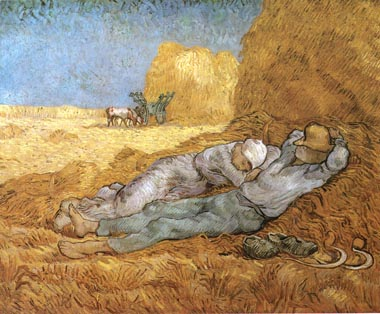 Vincent van Gogh Noon Rest 1890